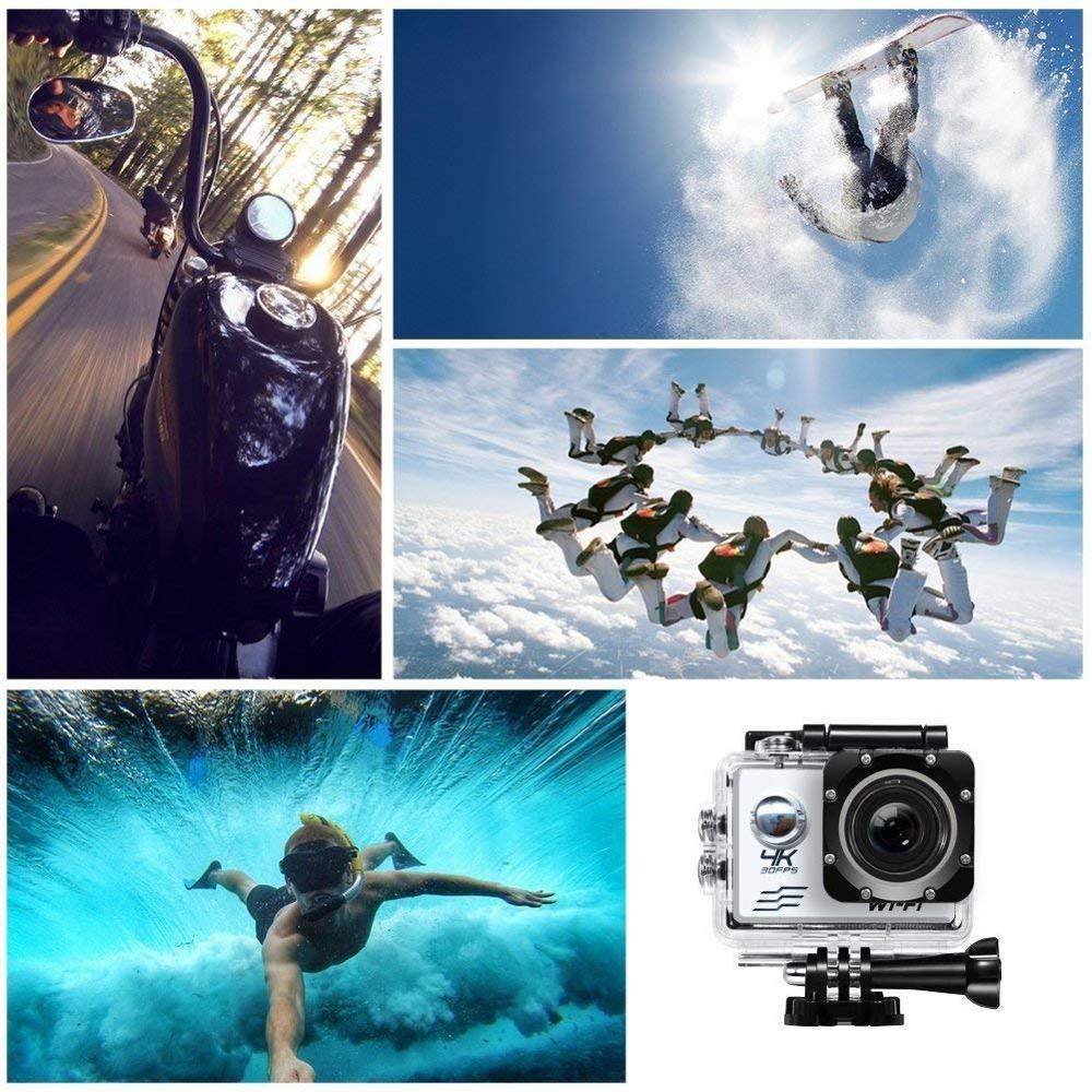 Image 5 - HD Wifi Action Camera 2 inch LCD Screen 4K 30FPS Outdoor Go Waterproof pro Diving Sports Helmet Camera DVR DV Video Recording-in Sports & Action Video Camera from Consumer Electronics