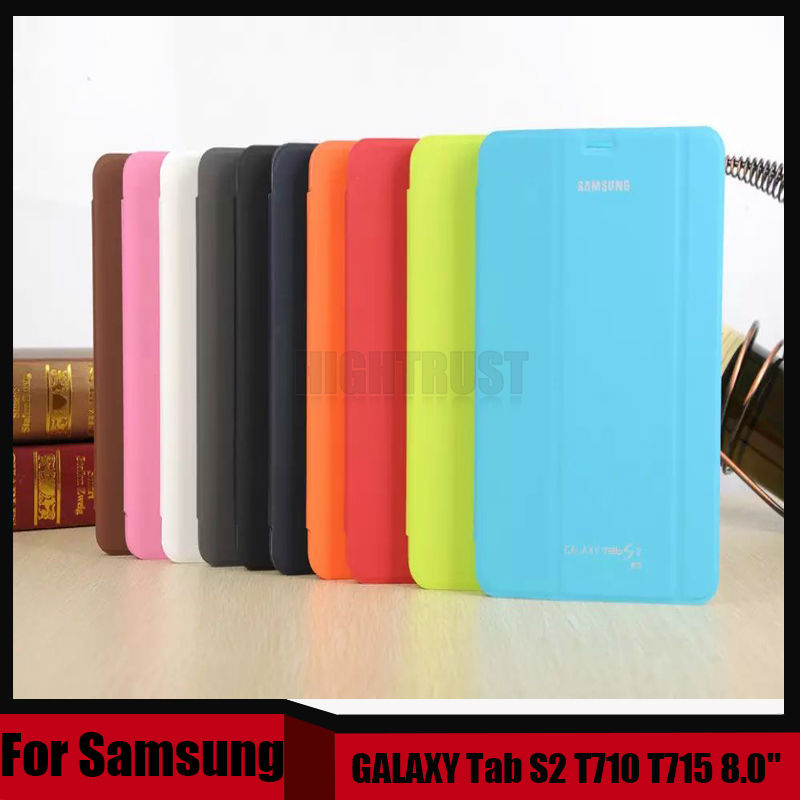 3 in 1 High Quality Business Smart Pu Leather Book Cover Case for Samsung Galaxy Tab S2 T710 T715 8.0 + Stylus + Screen Film luxury folding flip smart pu leather case book cover for samsung galaxy tab s 8 4 t700 t705 sleep wake function screen film pen