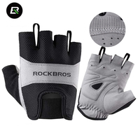 ROCKBROS Men Women Cycling Gloves Breathable Half Finger Bike Glove Shockproof MTB Mountain Road Bicycle Sports