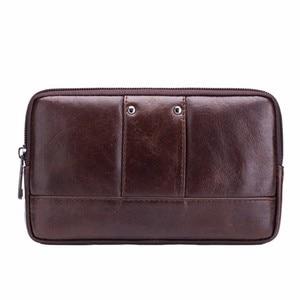 Image 2 - BULL CAPTAIN Leather Famous Brand Men Cell Mobile Phone Case Cover Purse Cigarette Money Hip Belt Waist Bag Wallet Gift
