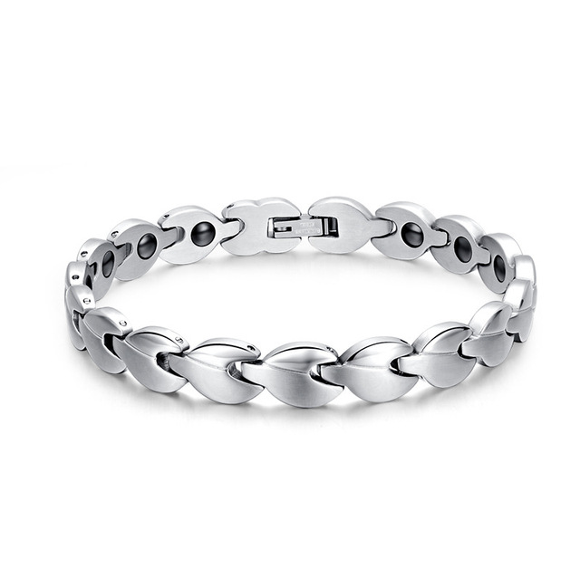 The all-new 2016 fashion stainless steel bracelet titanium steel jewelry health magnet Universal Health Bracelet