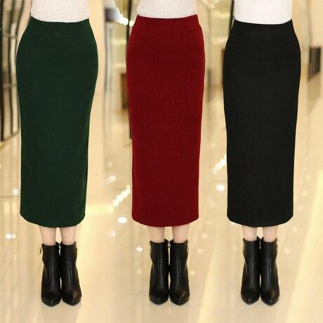 Aliexpress.com : Buy 2015 New Woolen Pencil Skirt for Women Slim ...