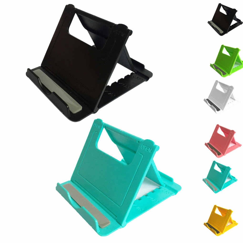 Multi-Sudut Adjustable Portable Ponsel Malas Pemegang Mount Universal Foldable Tablet Meja Stand