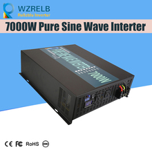 Peak Full Power 7000w Pure Sine Wave Solar Power Inverter Dc 12v 24v 48v Converter Solar power inverter with Dual Display off grid pure sine wave solar inverter 24v 220v 2500w car power inverter 12v dc to 100v 120v 240v ac converter power supply