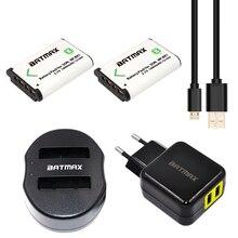 2 pcs np-bx1 1600 mah battery + dual usb charger & ue/eua adaptador para sony hx50 wx300 rx100 ii rx1 hx300 as15 as30v as100v acessórios