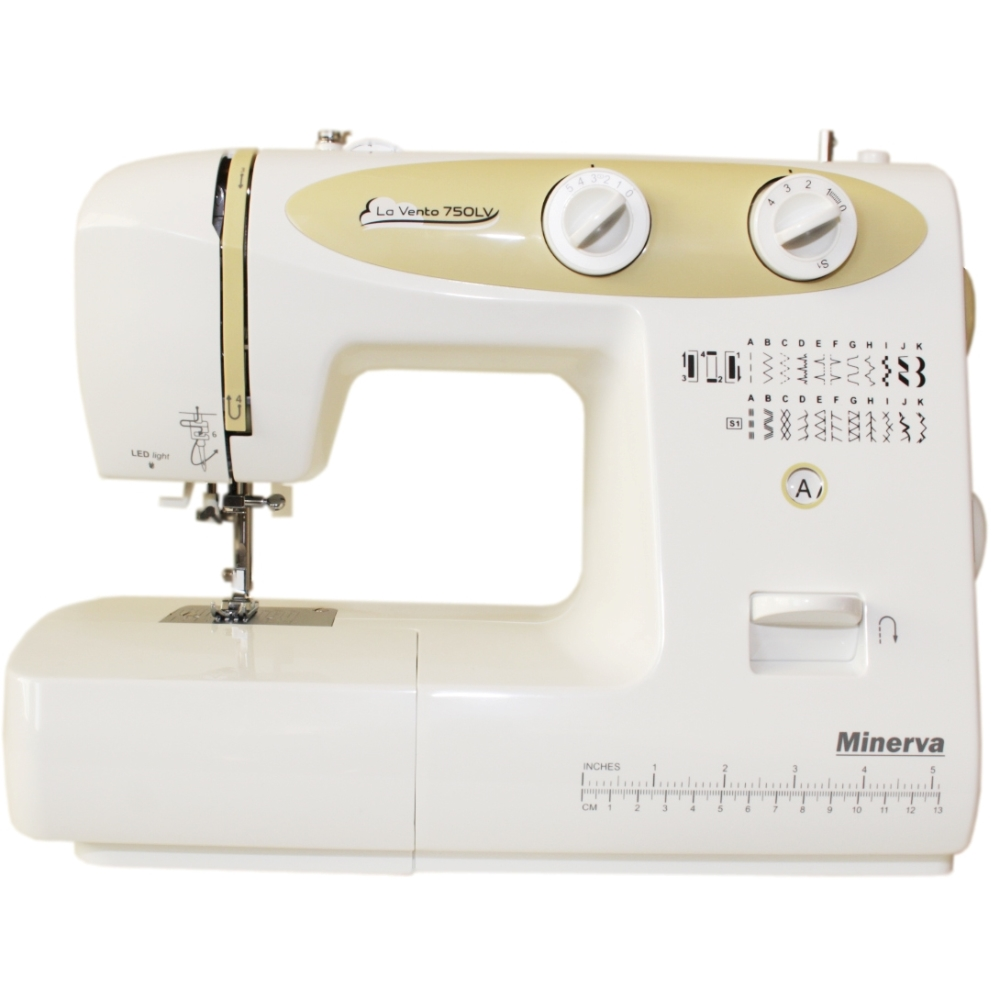 Sewing machine Minerva La Vento 750LV (23 operations, sewing speed 800 rev/min, width stitch: 5mm, Length 4mm) sewing machine janome jq 2515s