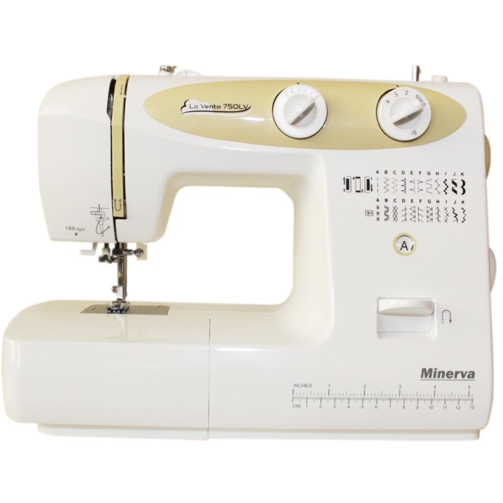 Sewing machine Minerva La Vento 750LV (23, sewing Speed 800 rpm stitch width: 5mm, Length 4mm) sewing machine minerva indi 219i