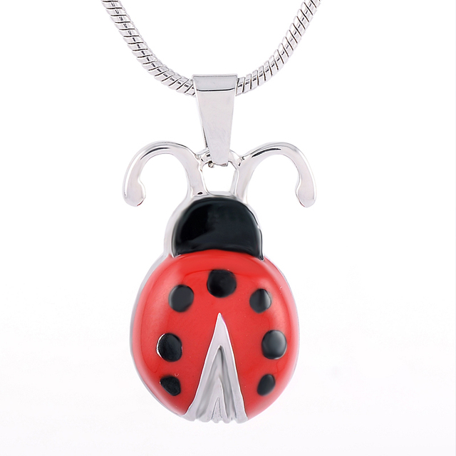 Ladybug Urn Necklace