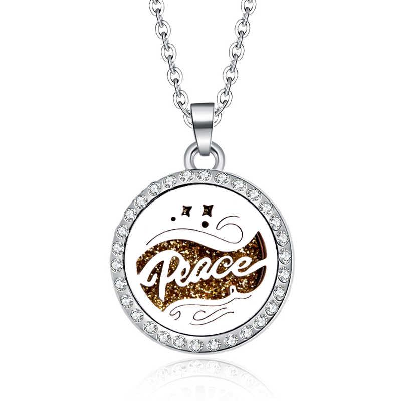 Nowy styl cyrkon wisiorki księżyc gwiazdy naszyjnik dla kobiet kryształ rozpylacz zapachów ze stali nierdzewnej stalowy wisiorek aromaterapia medalion
