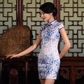 Wholesale! New Fashion Sexy Traditional Chinese Clothing Retro Women Dress Cotton Linen Cheongsams Qipao Plus Size
