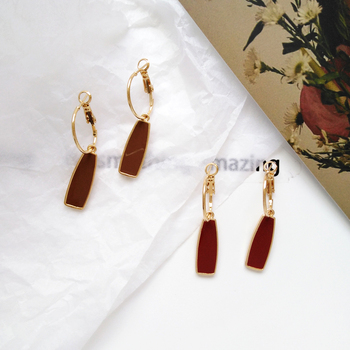 Geometry retro circle pendant earrings jewelry fashion woman earrings Statement earring for Girls gift for woman 3