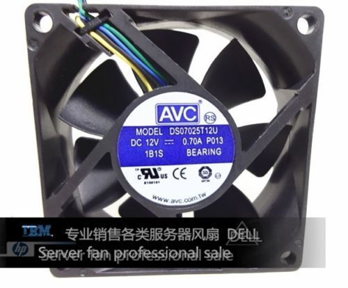 Computer Case <font><b>Fan</b></font> For AVC DS07025T12U <font><b>70mm</b></font> 7025 DC 12V 0.7A 4 -pin <font><b>PWM</b></font> cpu pc case cooling <font><b>fan</b></font> image