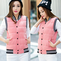 Women Winter Vest Waistcoat 2017 Women's short Vest Jacket Sleeveless uniform Down Cotton Warm Vest Female
