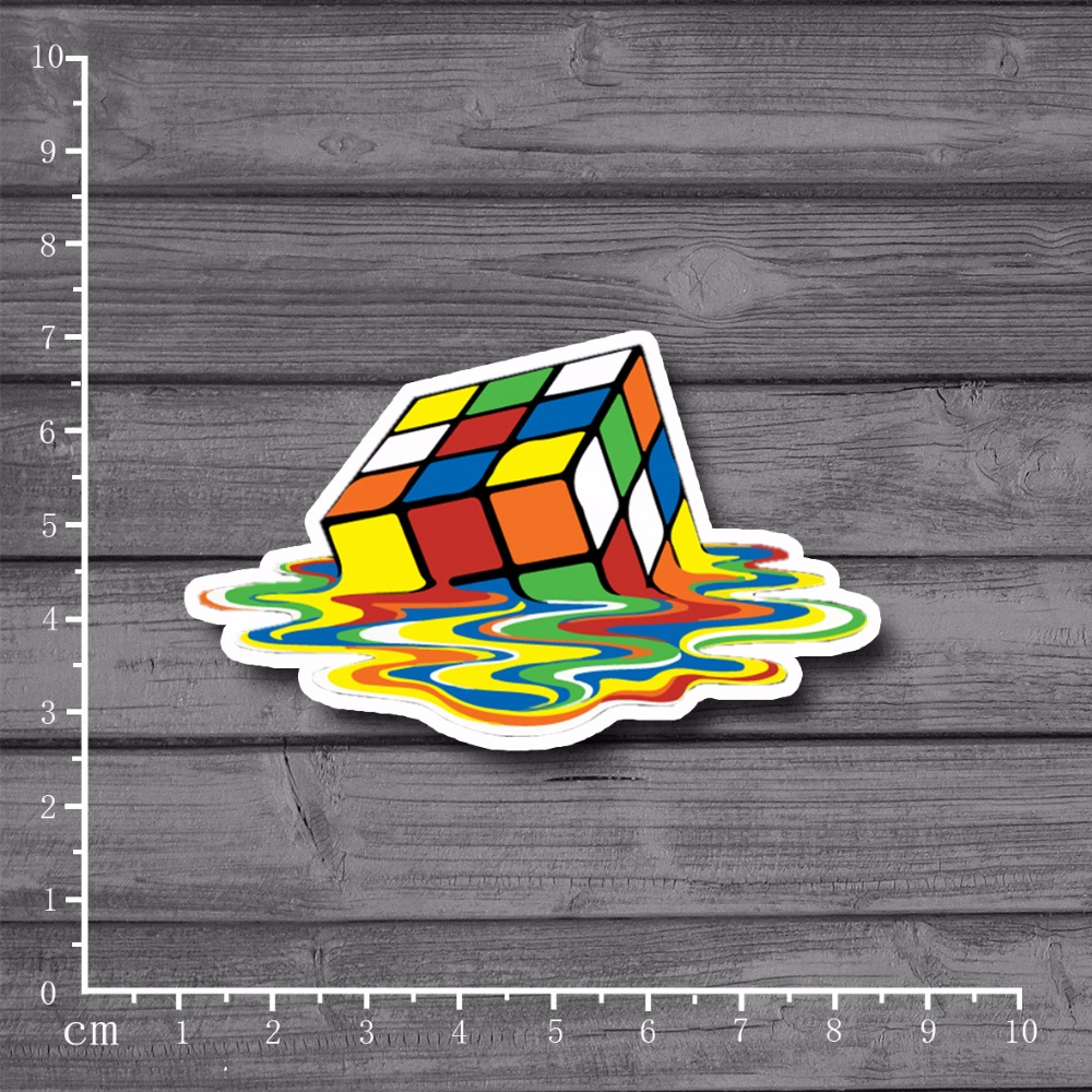 Exclusive Selling Melting c*be Waterproof On Notebook Car Styling Personalized Laptop Stickers For Kids Toy Skateboard[Single]