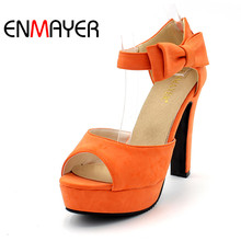 Black HotAPRICOT New Summer Peep Toe Ankle Strap Orange Sweet Thick High Heel Sandals Platform Lady Women Shoes Fashion platform
