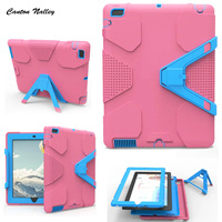 Canton Nalley For iPad 2 3 4 Case EVA Heavy Duty Shockproof Hybrid Rubber Rugged Hard Protective Skin Cover Case black +Stylus