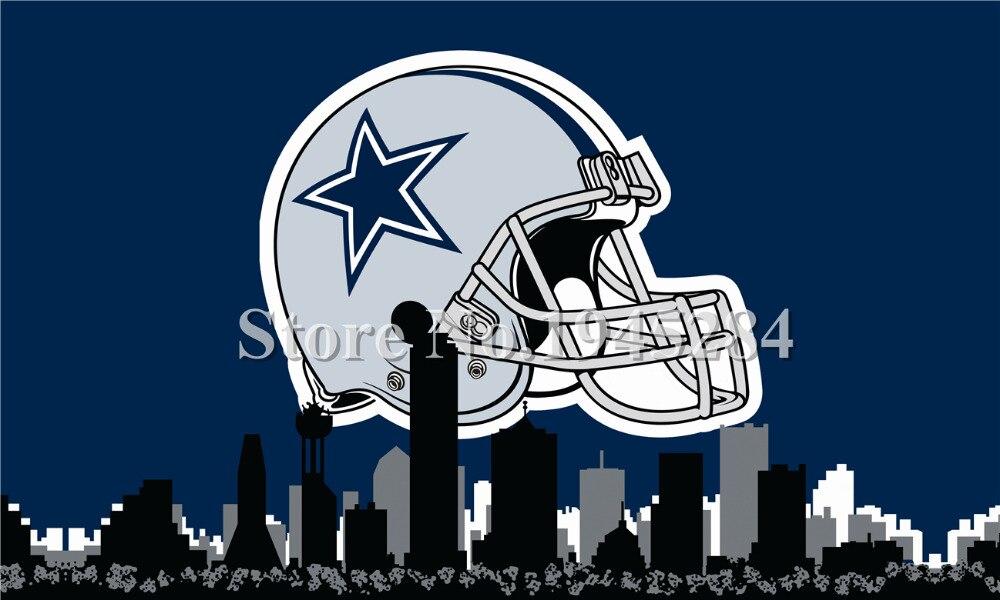 ④NFL Dallas Cowboys casco City Skyline bandera nueva 3ft x5ft ...