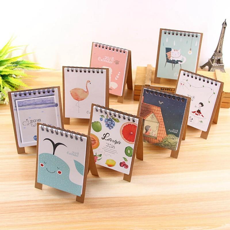 19*8.3cm Creative Desk Standing Paper Multifunction Organizer Schedule Planner Notebook 2018 Year New Kawaii Cartoon Calendar Office & School Supplies
