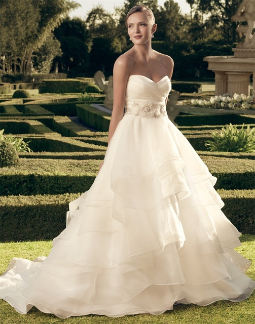 Flowy Layered Wedding Dresses Ball Gown Flores Para Noivas ...