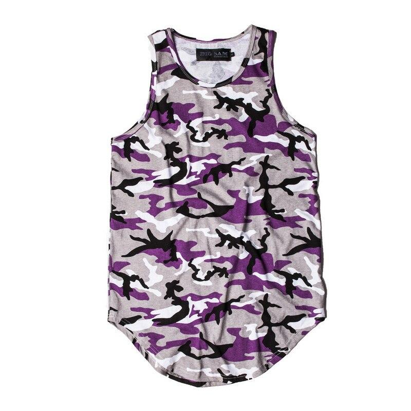 HIPFANDI Camouflage Uitgebreide Tank Top Mannen 2017 Zomer Streetwear - Herenkleding - Foto 6