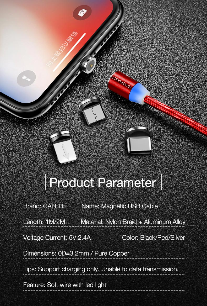 Magnetic usb type c micro cable for iphone x xs max xr 8 7 6 6s plus 5 5s se (11)