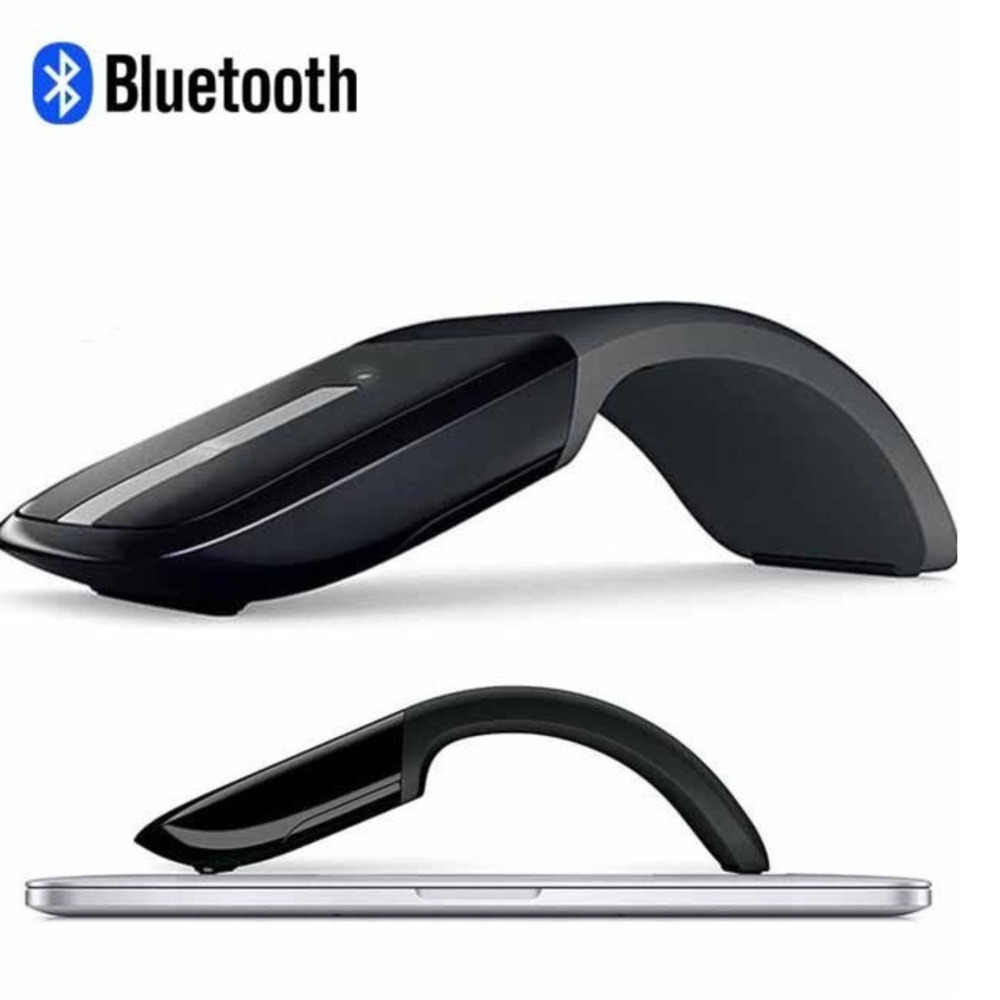 Chyi Bluetooth Dapat Dilipat Nirkabel Komputer Mouse Ergonomis Optik Mause Arc Touch 3D Lipat PC Slim Mouse untuk Microsoft Laptop