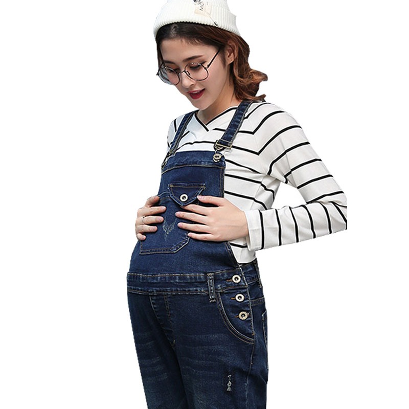 Braced Jeans Maternity Overalls Pants For Pregnant Women Denim Jumpsuits Pregnancy Rompers Suspender Trousers Maternity Uniforms female pants women s jeans for pregnant women maternity overalls denim trousers autumn winter jumpsuit pregnancy clothes gh166