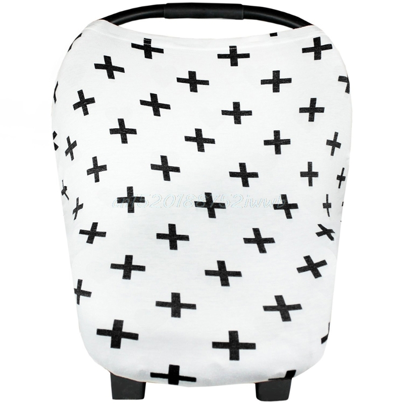 Multi Use Stretchy Newborn Infant Nursing Cover Baby Car Seat Canopy Cart Cap T026