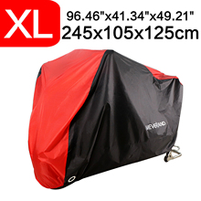 XL 245x105x125cm 190T Waterproof  Black Red Motorcycle Covers Outdoor Indoor Motorbike Scooter Motors Rain UV Dust Protective 200x90x100cm black silver 190t waterproof motorcycle covers outdoor indoor motorbike scooter motor rain uv dust protective cover