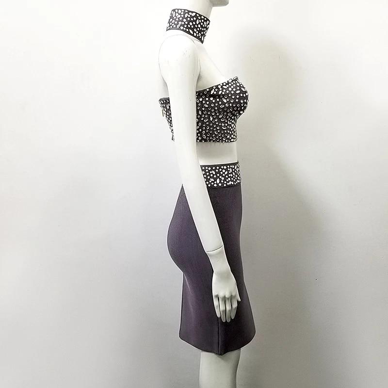 New Ladies 2 Piece Choker Neck Top /& Legging Set