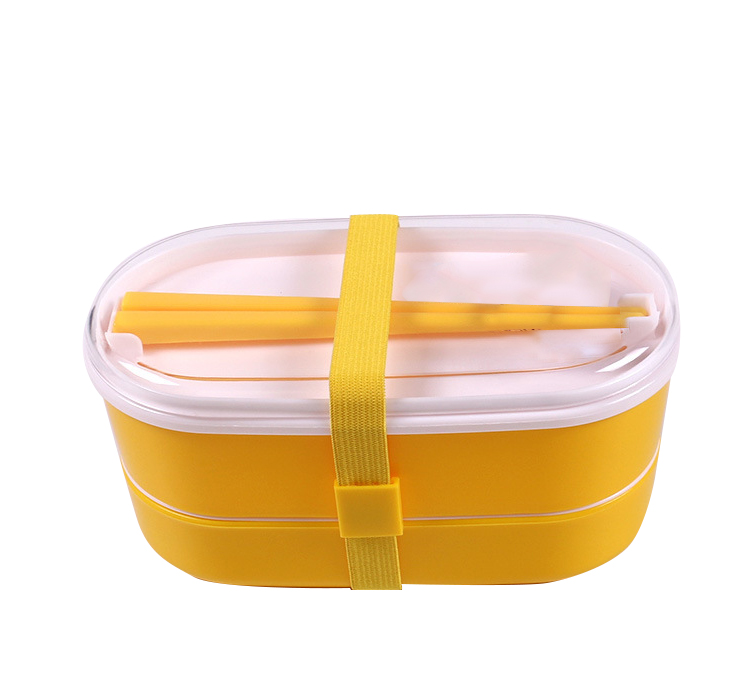 new arrival and best sale japanese 2 tiers bento lunch box with belt and chopsticks - Kitchen Cabinets Price 2