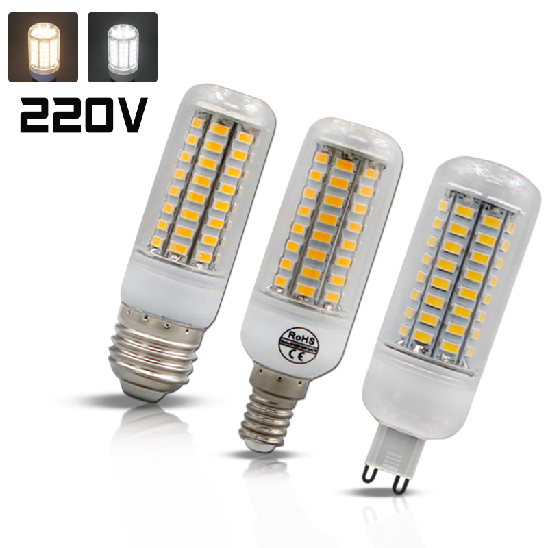 Супер светодиодный лампы E27 E14 SMD 5730 СВЕТОДИОДНЫЙ Индикатор 24 36 48 56 69 светодиодный s 220 В лампада светодиодный g9 кукурузы лампочки Люстра свето...