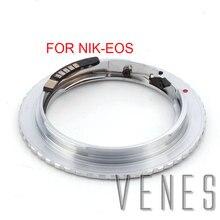 Адаптер Venes для Nikon F, обновленная диафрагма 2 го поколения, AF, подтверждение типа B, Крепление объектива к зеркальной камере Canon (D)