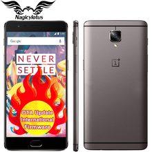 НОВЫЕ Оригинальные Oneplus 3 T oneplus 3 T 4 Г LTE Мобильный Телефон Snapdragon 821 Quad Core 5.5 «6 ГБ 64 ГБ Android 6.0 NFC 16MP Отпечатков Пальцев