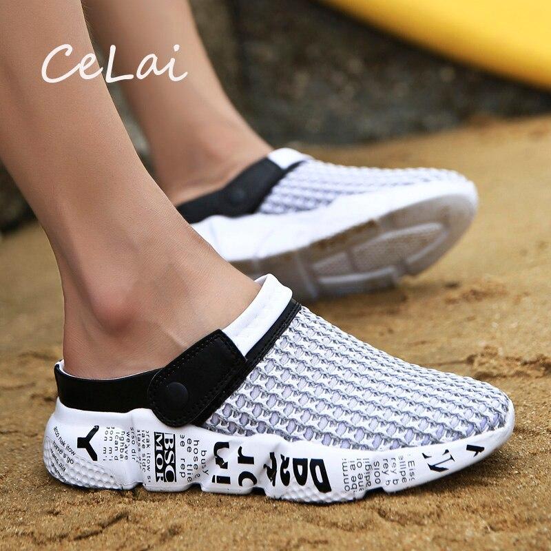 CeLai tamaño 39-46 zapatos de malla de verano sandalias de hombre zapatillas de playa Zuecos de hombre Zuecos Sandalias Zapatos Hombre A-032
