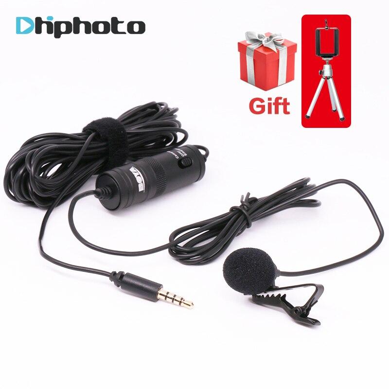 BOYA BY-M1 Etichetta Lavalier Omnidirezionale Microfono A Condensatore per iPhone Android per Canon Nikon DSLR Videocamera Audio Recorder