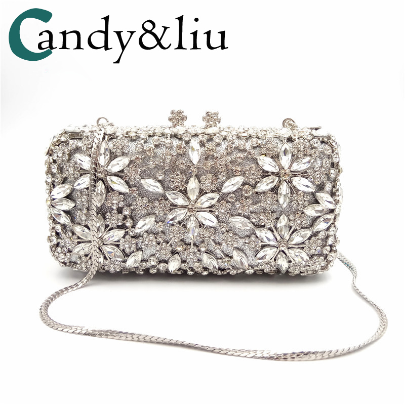 2017 New Dinner bag High-end handmade Evening suit bag with Diamond pattern Women hand bag a substitute hai dress bag 2018 high grade crystal diamond encrusted pearl evening suit luxury full drilling foreign trade dinner bag hand bag