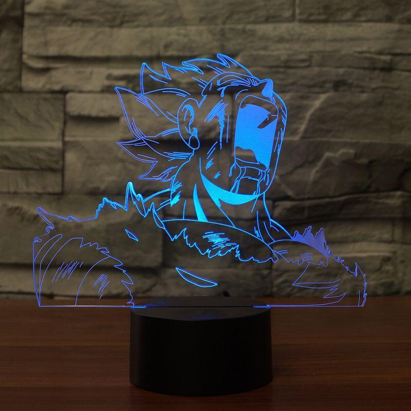 Novelty Bedside 3D Desk Lamp Gift Led Visual Colorful Dragon Ball Lighting Fixture USB Vegeta Creative Baby Sleeping Night Light