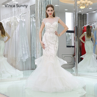 Vinca Sunny Real Pictures Ball Gown Bridal Dress Vintage Muslim Plus Size Wedding Dress 2018 Princess