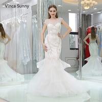 Vinca Sunny Real Pictures Ball Gown Bridal Dress Vintage Muslim Plus Size Wedding Dress 2018 Princess