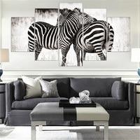 Mordern Canvas Painting Zebra Frameless Animal Art Poster Wall Horse Oil Picture Home Decor Print On