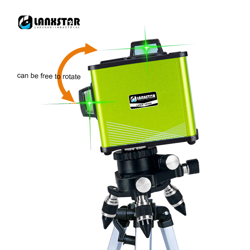 Lanxstar12 Line3D Red And Green Laser 360 Degree Horizontal Oblique Outdoor Horizontal Touch Aluminum Alloy High Precision LevelLanxstar12 Line3D Red And Green Laser 360 Degree Horizontal Oblique Outdoor Horizontal Touch Aluminum Alloy High Precision Level