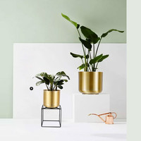 Metal flower pots ins simple European green plant wealth tree vase living room desktop home decoration flower pot