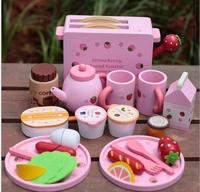 Baby Toys Toast Bread Toaster Toys Wooden Pretend Play Kitchen Toys Child Play Food Set Toys