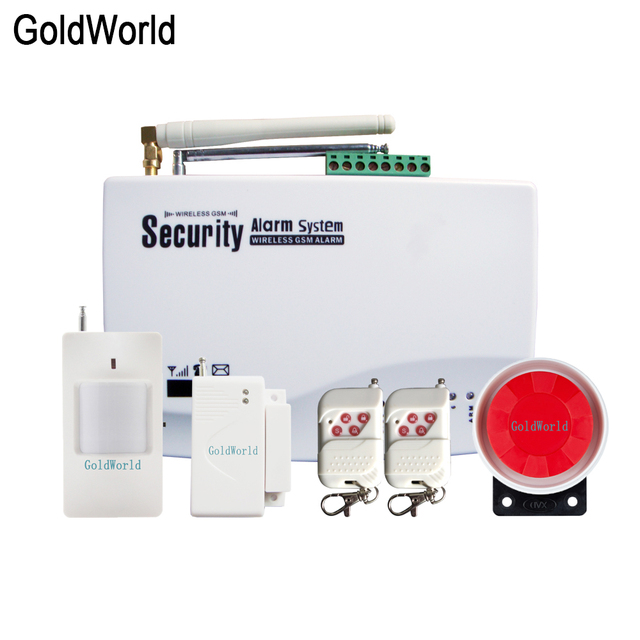 Sistema de alarma de seguridad GSM para el hogar, marcador automático de voz SIM en inglés y ruso, llamada SMS, control remoto