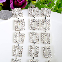 1/5Yards Clear Rhinestone Trim Chain Banding Crystal Cake Ribbon Flower Glass Trims Sewing Accessories