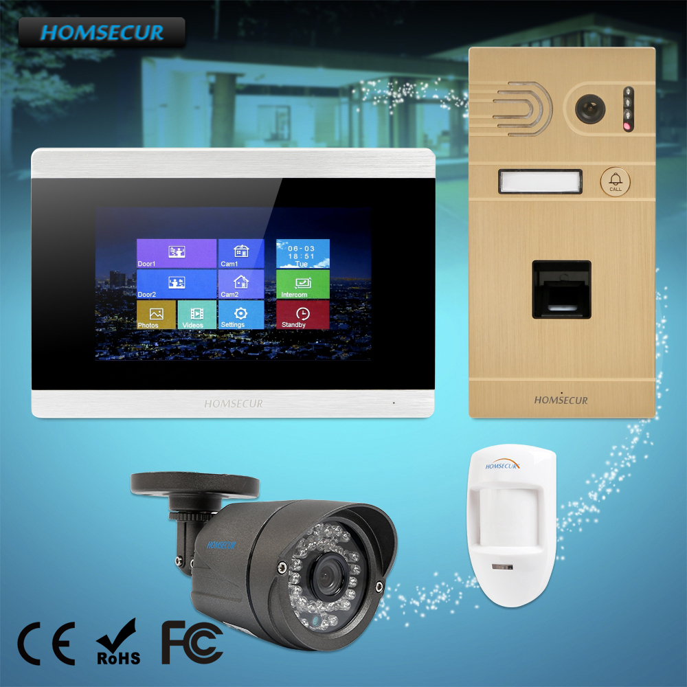 HOMSECUR 7 Video Door Phone Intercom System CCTV Camera Motion Detection Alarm Function for Home Security