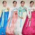 2016 зима древний корейский jang geum корейский традиционный костюм ханбок меньшинств-хоп танцевальных ее детских девочек
