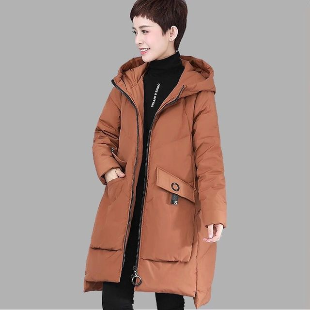 M~4XL Plus Size Parka Women's Duck Down Jackets 2018 Winter Female Loose Snow Outerwear Coats High Quality Thickening Clothes