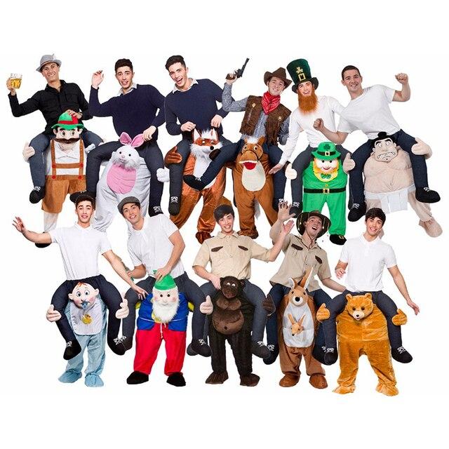 Us 5398 Nieuwigheid Oktoberfest Mannen Rit Op Me Dier Grappige Fancy Unisex Mascotte Up Party Fancy Festival Kleding Carnaval Kostuum In